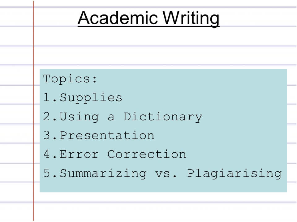 Academic writing 1 The writing process - PowerPoint PPT Presentation