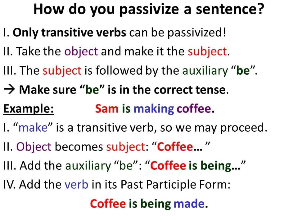 Active and Passive Voice-4