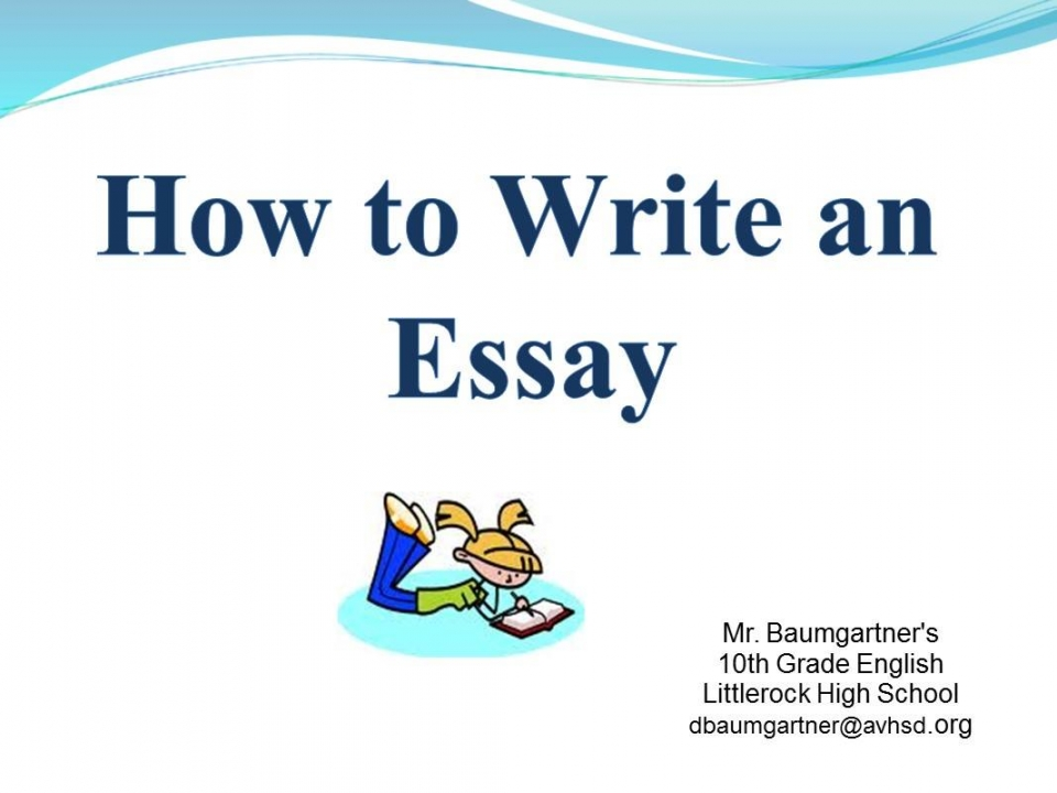 How to write an essay in english