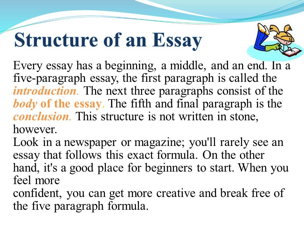 To write your essay
