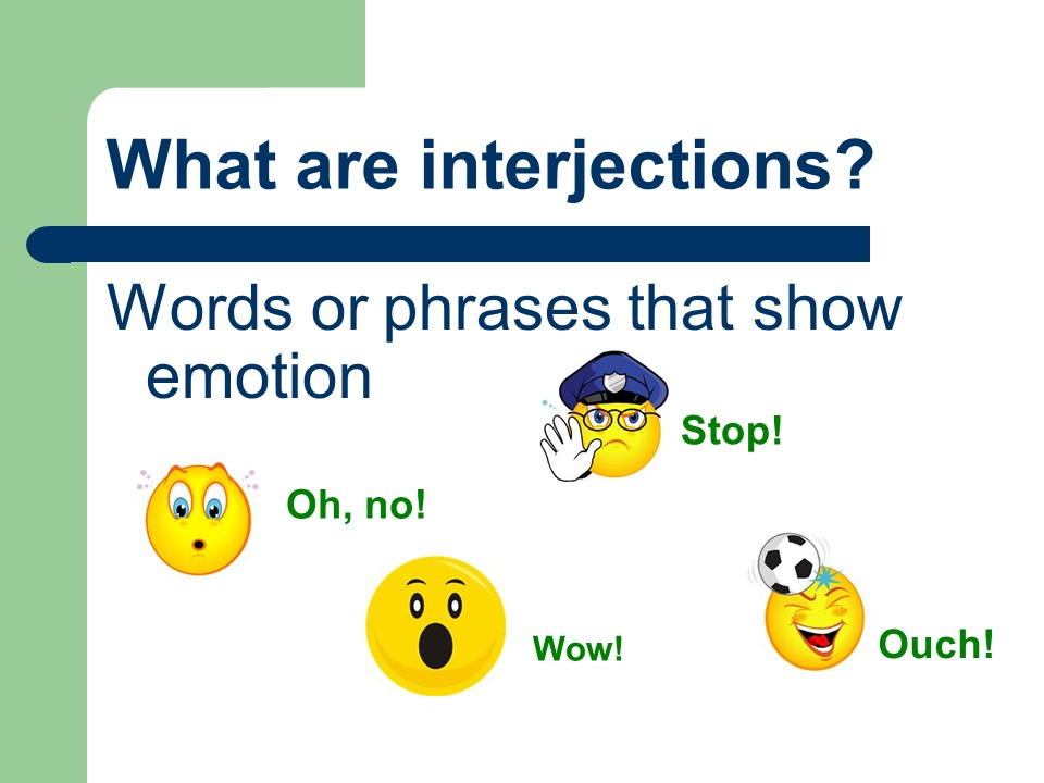 the use and analysis of interjections