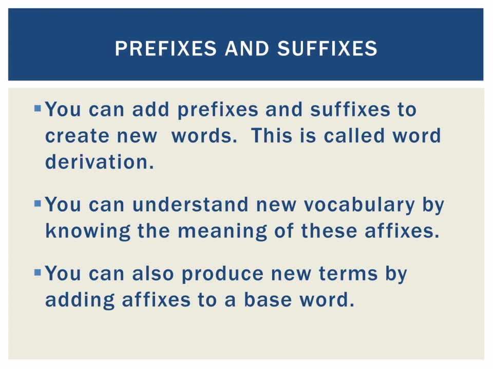 Prefixes and Suffixes-2