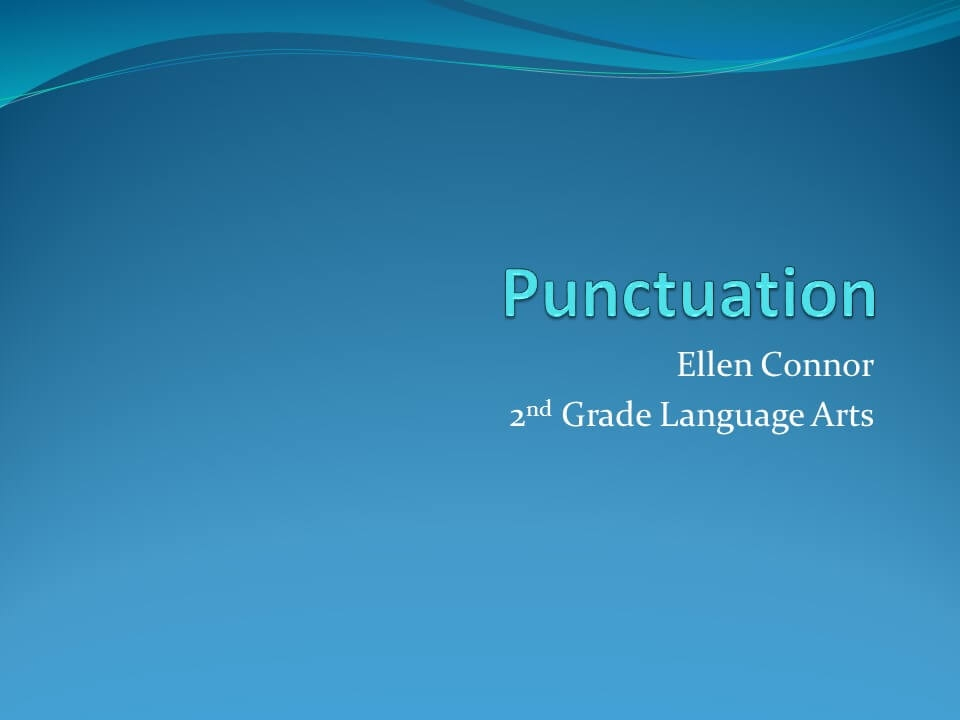 Punctuations in English-1