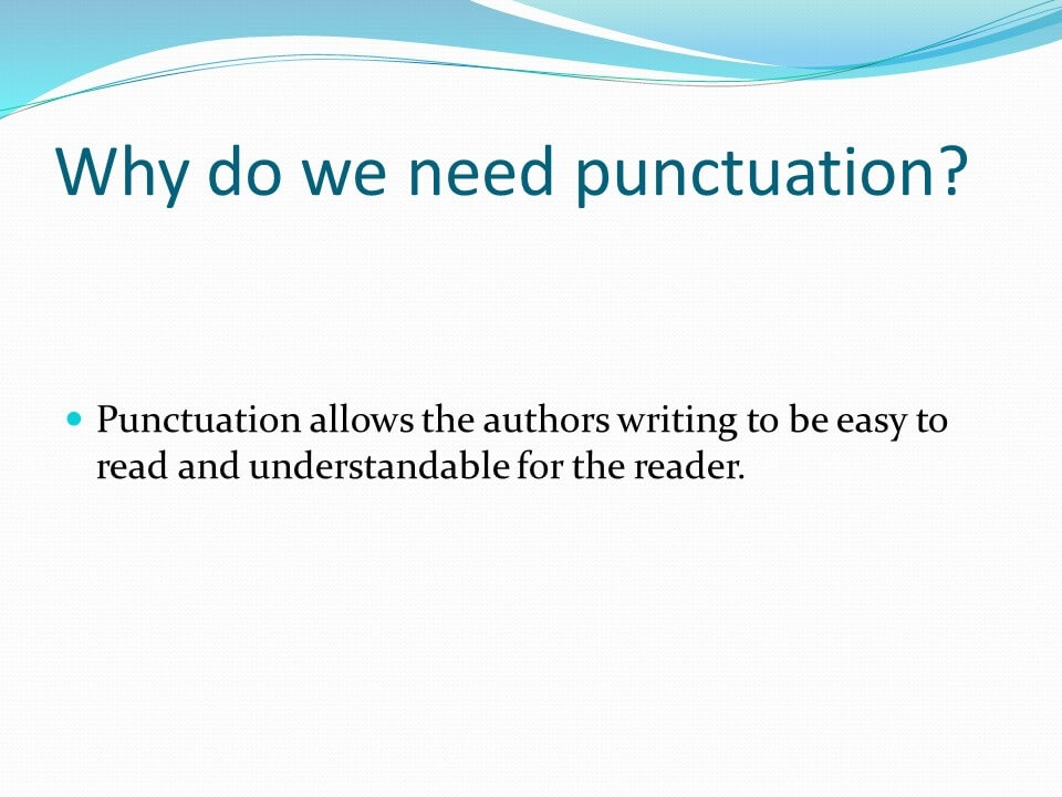Punctuations in English-2
