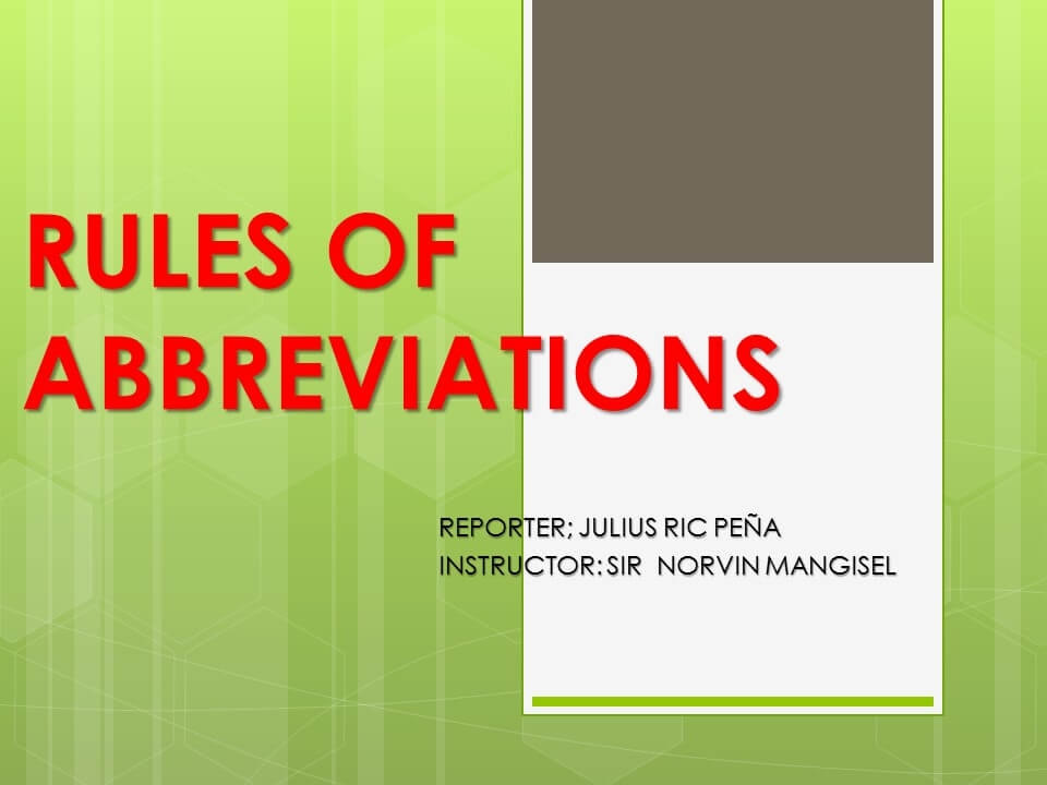 Rules of Abbreviations-1