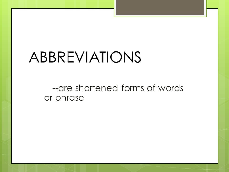 Rules of Abbreviations-2