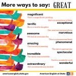 more ways to say Great-1
