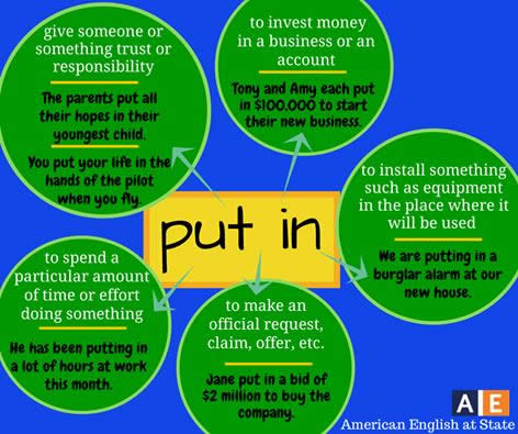 how to use phrasal verbs in english