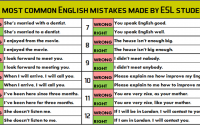 the most common english mistakes made by esl students