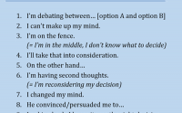 10 phrases for decisions