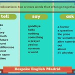 collocations - tell, say, ask