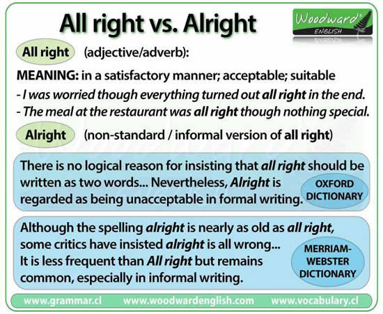 difference between all right and alright