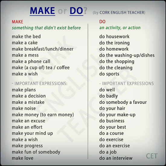 how to use make and do