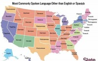most commonly spoken language other than english or spanish in USA