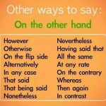 other ways to say On the other hand