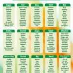 detailed synonym word list