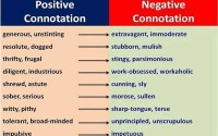 positive and negative connotation