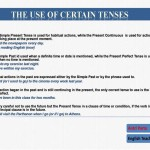 the use of certain tenses