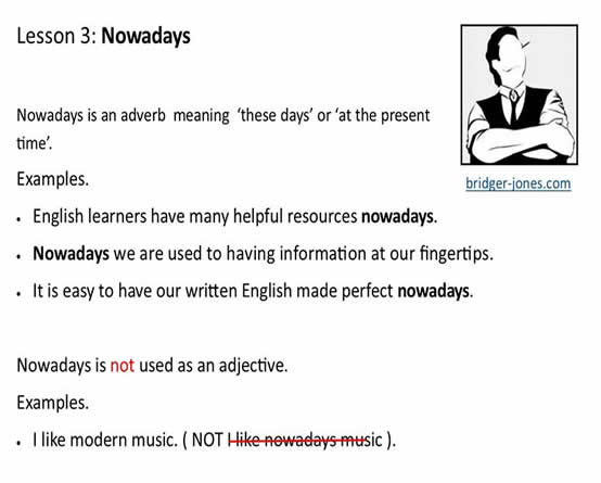 uses of nowadays
