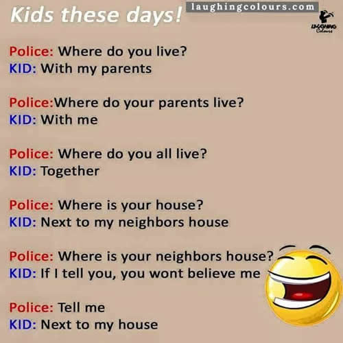 Funny Kid And Police