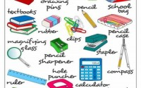 classroom objects - english vocabulary