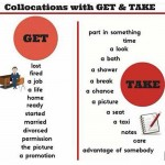 collocations with get and take