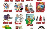 phrasal verbs with out - visual learning method