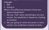 english grammar - predictions