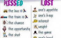 uses of miss and lost