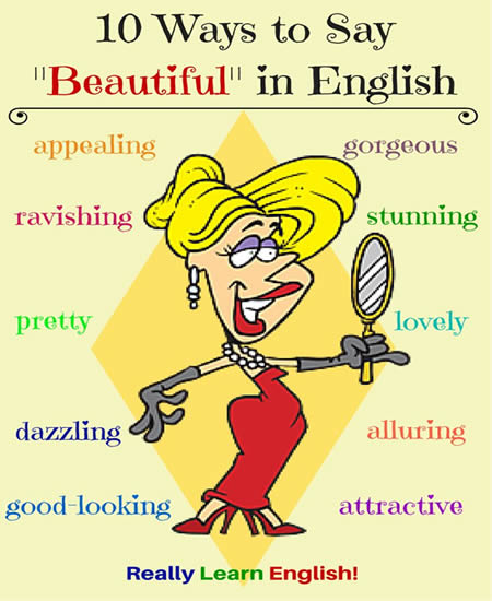 Ways to say someone is beautiful