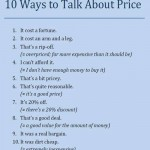 10 ways to talk about price