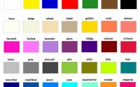 Colors in English (Detailed)