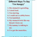 Different ways to say I'm hungry