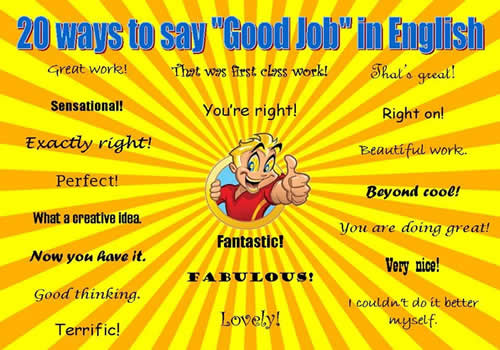 Ways to Say GOOD JOB