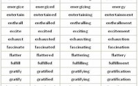 adjectives ending with -ed and -ing