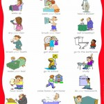 daily routines vocabulary -visual