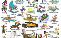 sports and games vocabulary in english