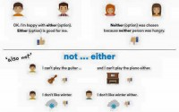 using either and neither in english