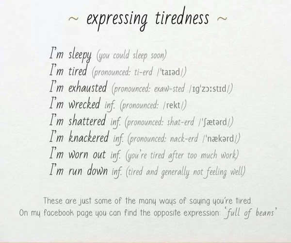 expressing-tiredness-in-english