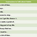 Expressions to Talk about Habits