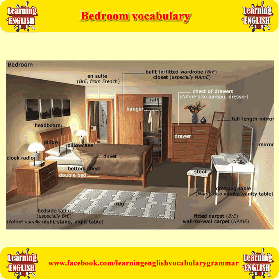 bedroom-vocabulary
