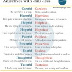 Adjectives With -FULL and -LESS