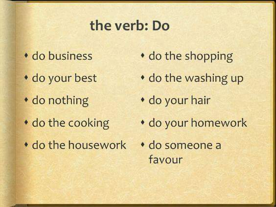 Collocations with DO