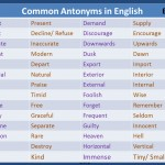 Common Antonyms in English
