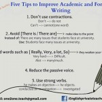 Five Tips to Improve Academic and Formal Writing