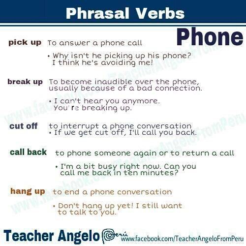 Phrasal Verbs With Phone
