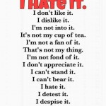 15 Ways To Say I hate it