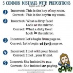 5 Common Mistakes with Prepositions