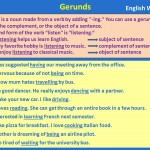 Gerunds in English