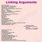 Linking Arguments In English